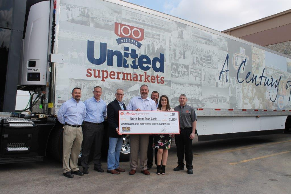 Picture of Market Street teams up with the North Texas Food Bank for Souper Bowl of Caring each year.
